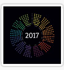 2017 Color Theory Calendar Infographic Sticker
