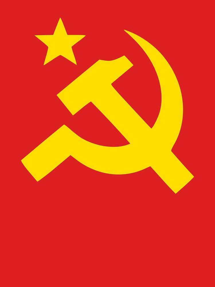 Communism Hammer Sickle Flag by Chocodole