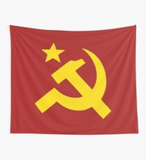 Communism Hammer Sickle Flag Wall Tapestry