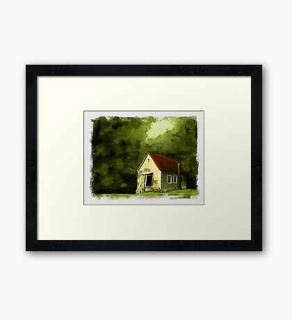 """Country Church 2""... prints and products Framed Print"