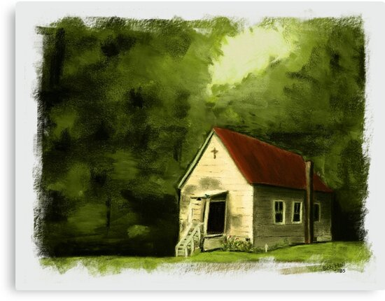 """""""Country Church 2""""... prints and products by Bob Hall©"""