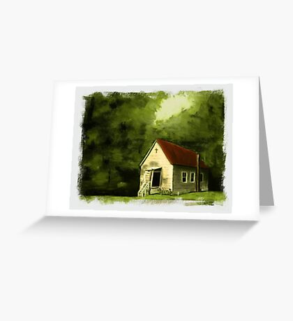 """""""Country Church 2""""... prints and products Greeting Card"""