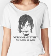 TWD - Daryl: We're On Easy Street Women's Relaxed Fit T-Shirt