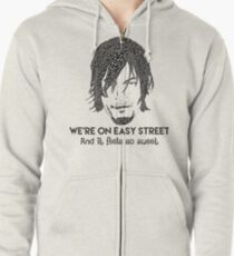 TWD - Daryl: We're On Easy Street Zipped Hoodie