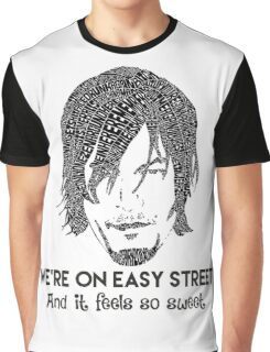 TWD - Daryl: We're On Easy Street Graphic T-Shirt