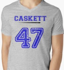 Caskett 47 Jersey Mens V-Neck T-Shirt