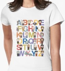 Through the Wormhole Alphabet Women's Fitted T-Shirt
