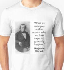 What We Anticipate - Disraeli T-Shirt