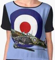 British Spitfire Fighter Plane Chiffon Top