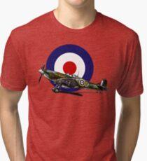 British Spitfire Fighter Plane Tri-blend T-Shirt