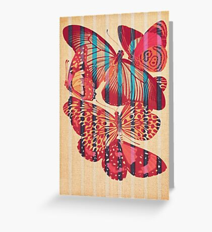 Butterflies in Strips Greeting Card