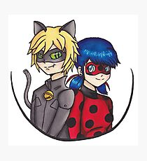 Miraculous Ladybug Chat Noir Perfect Team Photographic Print
