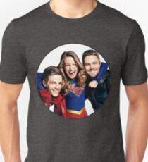 Arrow, Flash and Supergirl! Unisex T-Shirt