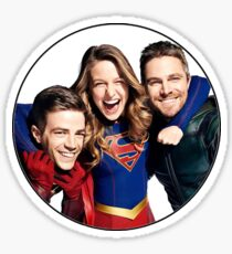 Arrow, Flash and Supergirl! Sticker