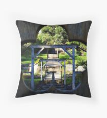 Brodick Castle Walled Garden. Isle of Arran, Scotland. Throw Pillow