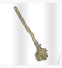 cartoon broomstick Poster