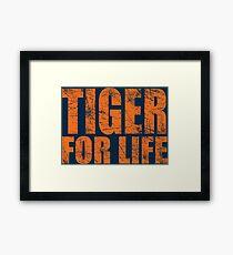 Tiger for Life -Navy and Orange Framed Print