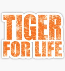 Tiger for Life -Navy and Orange Sticker