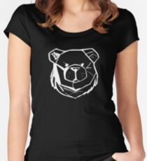 Robust Bear Logo White Women's Fitted Scoop T-Shirt