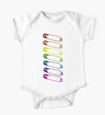 Safe with me rainbow safety pins One Piece - Short Sleeve