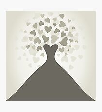 Wedding dress Photographic Print