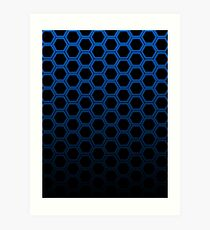 Blue hexagon Art Print