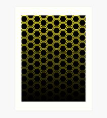 Yellow hexagon Art Print