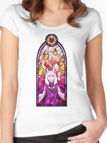TORIEL - Undertale Stained Glass Women's Fitted Scoop T-Shirt