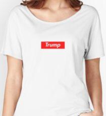 Donald Trump Supreme Box Logo Women's Relaxed Fit T-Shirt