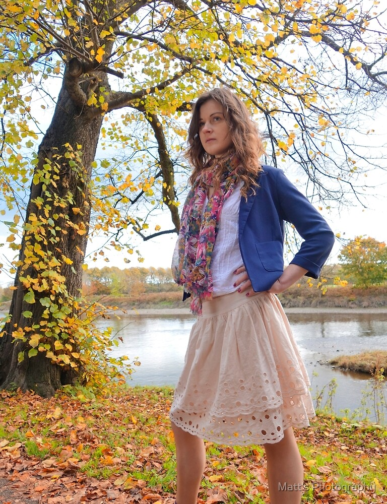 Pretty Girl in the park in Autumn by Matt's Photography