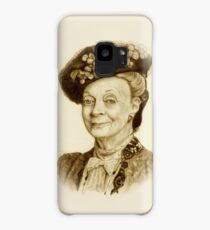 Downton Abbey, Maggie Smith Pencil Portrait, Sepia, Dowager Countess Case/Skin for Samsung Galaxy