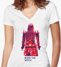 Radiohead - Burn the Witch Women's Fitted V-Neck T-Shirt