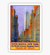 Vintage 5th Avenue Shopping New York City Travel Sticker