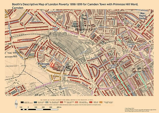 Booth S Map Of London Poverty For Camden Town Primrose Hill Ward