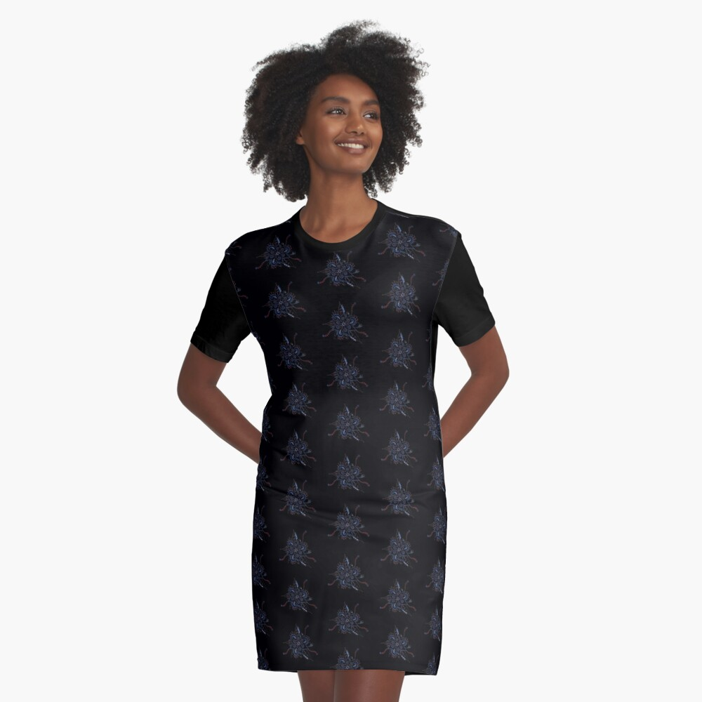 dot connection Graphic T-Shirt Dress Front