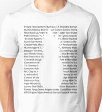Gus's Nicknames (Psych) Unisex T-Shirt