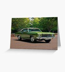 1970 Chevrolet Monte Carlo Greeting Card