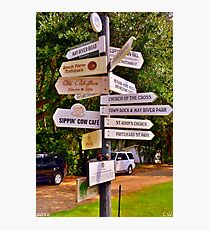 Bluffton SC Directions Photographic Print