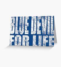 Blue Devil for Life Greeting Card