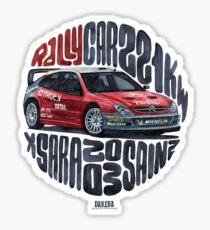 WRC rally - Xsara Sticker