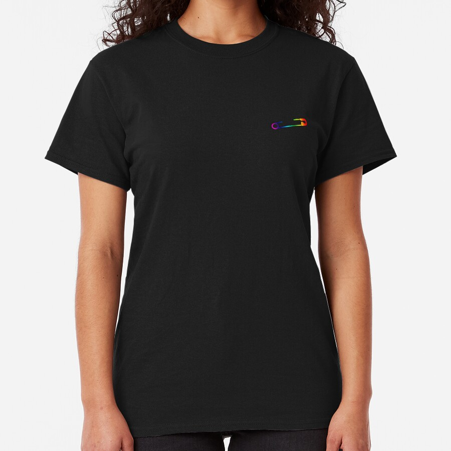 Rainbow Safety Pin  Classic T-Shirt