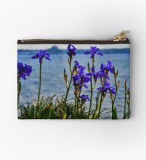 Coastal Irises  Studio Pouch