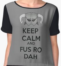 Keep Fus Ro Dah Women's Chiffon Top