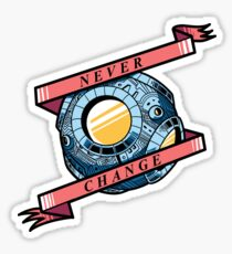 Never Change T-Cog Sticker