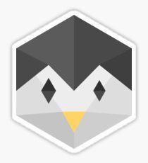 Penguin (black) Sticker