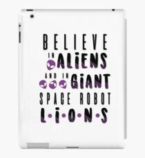 glaube an Aliens iPad-Hülle & Klebefolie