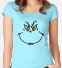 Grinch Face Women's Fitted Scoop T-Shirt