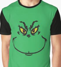 Grinch Face Graphic T-Shirt