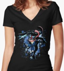The Water Ninja Women's Fitted V-Neck T-Shirt