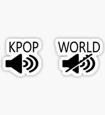 KPOP ON WORLD OFF Sticker